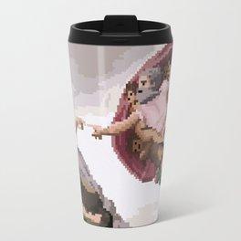 Pixel Creation of Adam Travel Mug