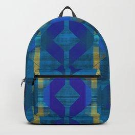 Bold Blue Midcentury Modern Backpack
