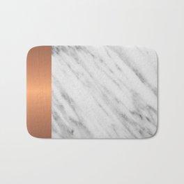 Carrara Italian Marble Holiday Rose Gold Edition Bath Mat