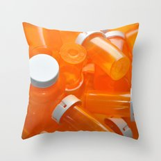 Pill Bottles Throw Pillow