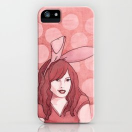 Polka Dot Bunny iPhone Case