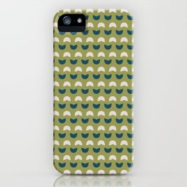 Abstract / Organic Surface Pattern (blue-green small) iPhone Case
