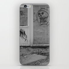 Death's newspaper booth iPhone Skin
