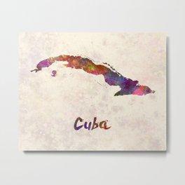 Cuba in watercolor Metal Print
