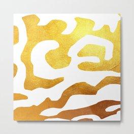 Golden Zebra Metal Print