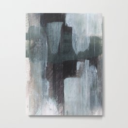 Rainy City - Abstract Cityscape Painting Metal Print