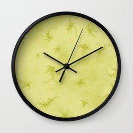 Garden chartreuse  Wall Clock