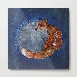 Fox Moon Metal Print