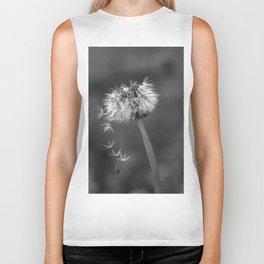 Black and white dandelion flying petals Biker Tank