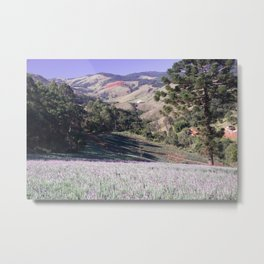 Lavenders and mountains Metal Print