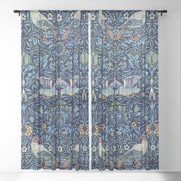 Wool curtain: Bird (1877-1878) by William Morris Sheer Curtain