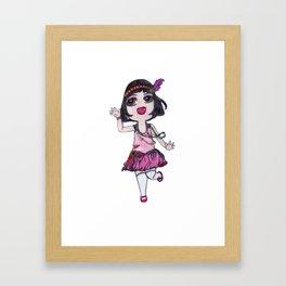 Chibi Flapper Framed Art Print