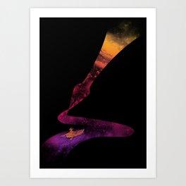 Universe Sailing Art Print