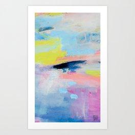 Dreamy Abstract pink Art  Art Print