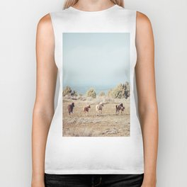 Oregon Wilderness Horses Biker Tank
