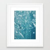 underwater Framed Art Prints featuring Underwater by adriaaannn
