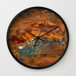 Rust Texture 2 Wall Clock
