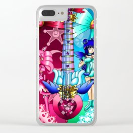 Sailor Mew Guitar #9 - Sailor Chibi Moon & Mew Minto Clear iPhone Case
