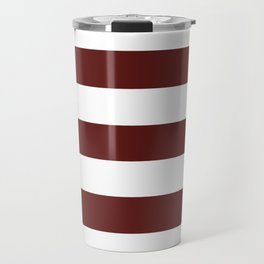 Philippine brown - solid color - white stripes pattern Travel Mug