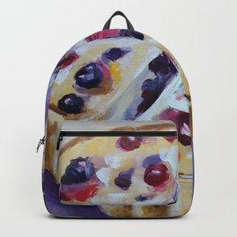 Desert, cake, food, original oil painting Backpack