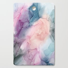 Dark and Pastel Ethereal- Original Fluid Art Painting Cutting Board