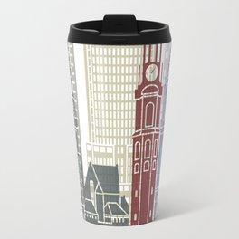 Amsterdam V2 skyline poster Travel Mug