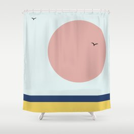 Freedom at sunset Shower Curtain