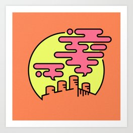 Chemical Sunset Art Print