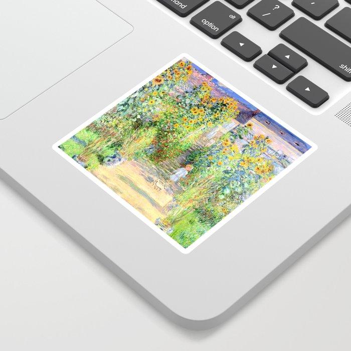 Monets Garden at Vetheuil Sticker