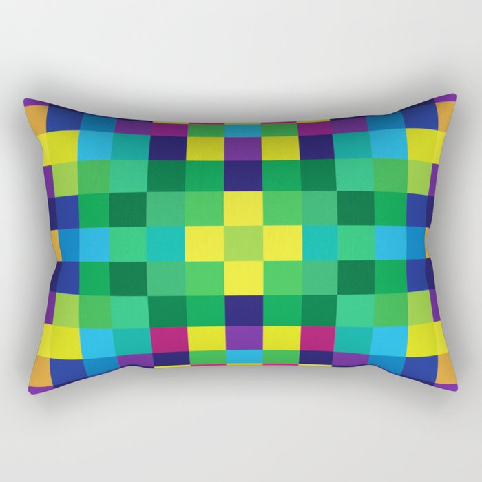 Colorful Geometric Background II Rectangular Pillow