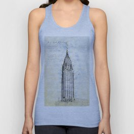 Crysler Building, New York, USA Unisex Tank Top