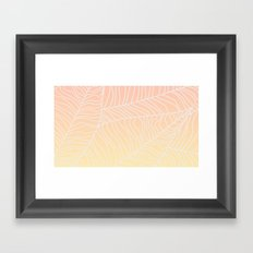 TROPICAL LEAF - dreamy look (pink and yellow) Framed Art Print