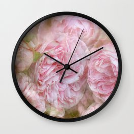 Vintage English Roses Wall Clock