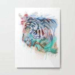 Spray Tiger Metal Print