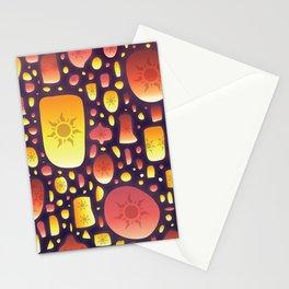 Tangled Lanterns Pattern Stationery Cards