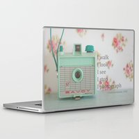 photographer Laptop & iPad Skins featuring Photographer by Butterfly Photography