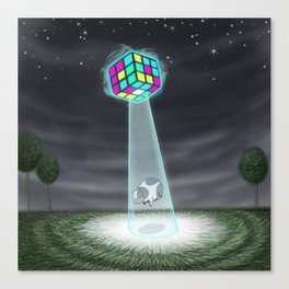 Rubix Cow Canvas Print