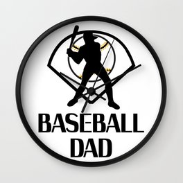 Baseball And Dad Funny Fathers Day Gift Wall Clock