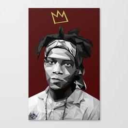 Geometric Basquiat Canvas Print