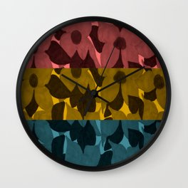 Flowers Through Different Lenses Wall Clock