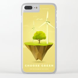 Green Power Clear iPhone Case