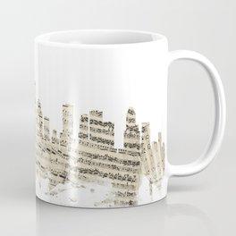 Houston Texas Skyline Sheet Music Cityscape Coffee Mug