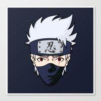 kakashi Canvas Prints featuring 090414—Kakashi by danielleBABYLON
