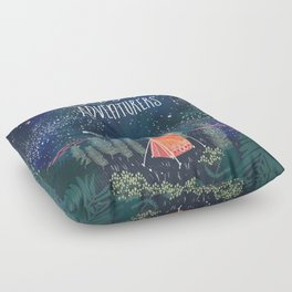 Let´s be adventurers Floor Pillow
