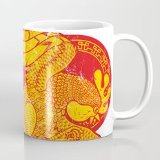 Rooster fire Mug