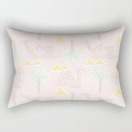 Camel Cabana in Desert Pink Sands Rectangular Pillow