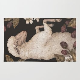 The Sheep and Blackberries Rug