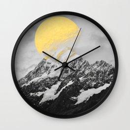 Moon dust mountains Wall Clock