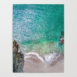 Seascape at the Cove (Color) Poster