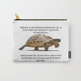 When A Tortoise Embarks On A Journey African Proverb Carry-All Pouch